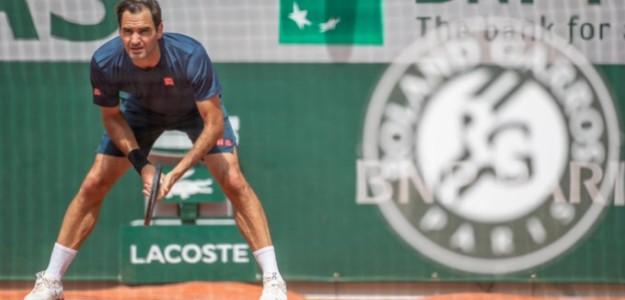 Roger Federer entrenando en París. Fuente: RG