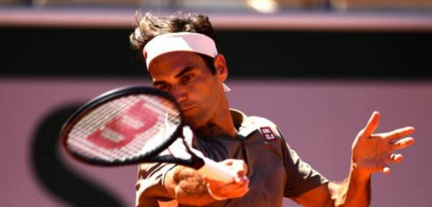 Federer impartió una clase magistral ante Leonardo Mayer. Foto: Getty