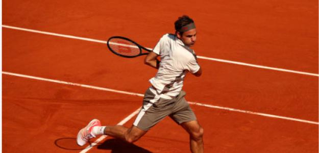 Roger Federer habla tras ganar a Casper Ruud en Roland Garros 2019. Foto: zimbio