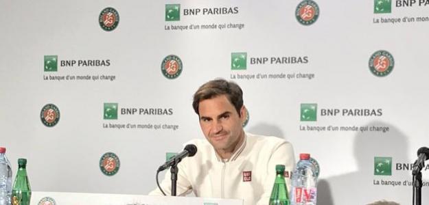 Roger Federer en Media Day de Roland Garros 2019. Foto: Twitter Oficial Roland Garros