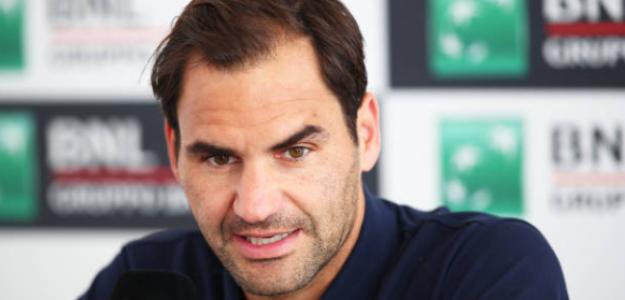 Roger Federer durante su rueda de prensa en Roma. Foto: Getty