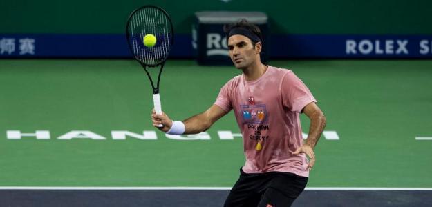 Roger Federer en Shanghái 2018. Foto: zimbio