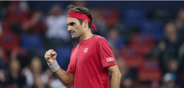 Roger Federer en ATP Masters 1000 Shanghái 2019. Foto: gettyimages