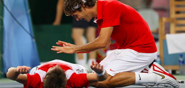 Stan Wawrinka y Roger Federer. Fuente: Getty