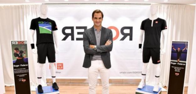 Roger Federer presenta su indumentaria para el US Open 2019. Fuente: Uniqlo