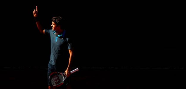 Roger Federer en su triunfo de 2009 en Madrid. Fuente: Getty