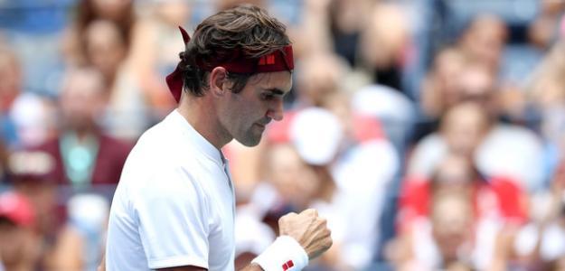 Roger Federer en US Open 2018. Foto: zimbio