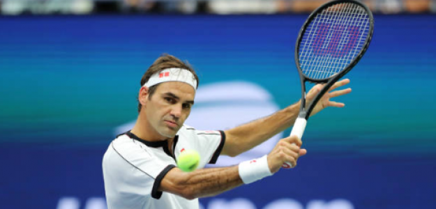 Roger Federer en US Open 2019 ante Damir Dzumhur. Foto: gettyimages