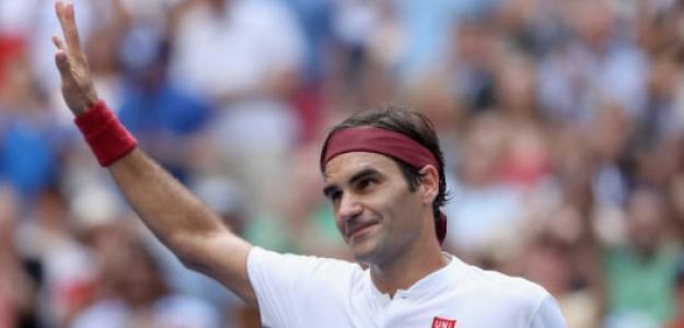 Roger Federer en US Open. Foto: Getty Images