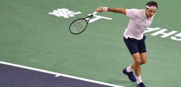 Roger Federer en Shanghái. Foto: Getty Images