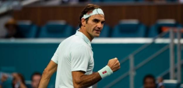 Roger Federer en Miami. Foto: Getty Images