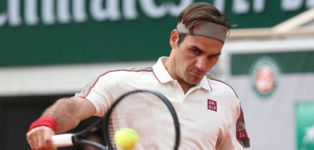 Roger Federer en Roland Garros. Foto: Getty Images