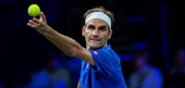 Roger Federer en la Laver Cup. Foto: Getty Images