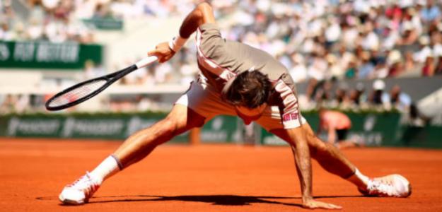 Roger Federer hoy en RG19. Foto: Getty