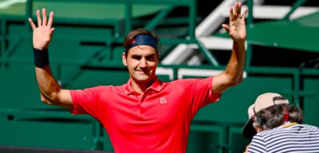 Roger Federer superó la primera ronda en Halle. Fuente: Getty
