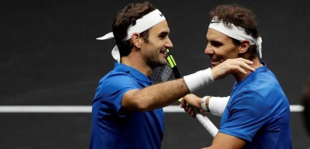 Roger Federer y Rafael Nadal. Foto: Laver Cup
