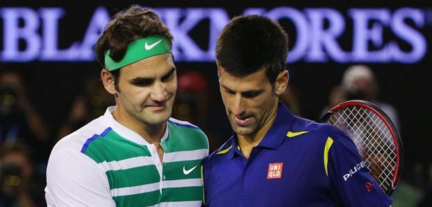 Federer y Djokovic. Foto: Getty