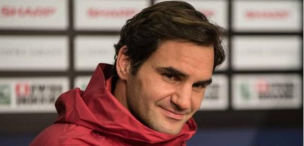 Federer en rueda de prensa. Foto: Getty