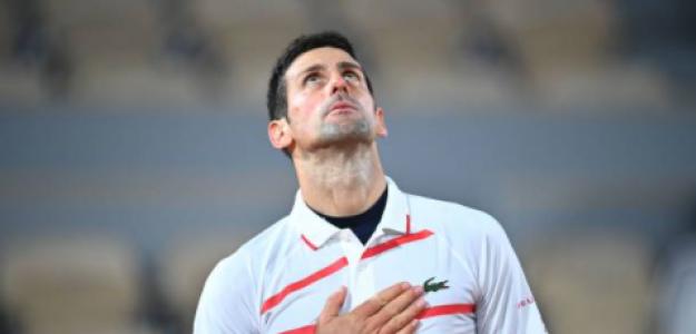 Novak Djokovic celebra su victoria. Fuente: Getty