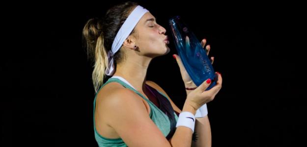 Aryna Sabalenka, campeona en Ostrava. Fuente: WTA