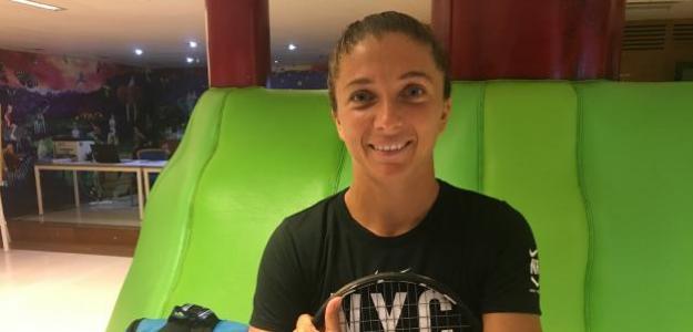 Sara Errani en el Club de Tenis Valencia. Fuente: Fernando Murciego