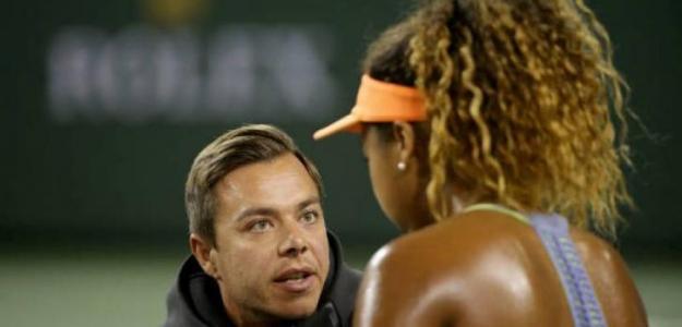 Sascha Bajin y Naomi Osaka. Foto: WTA