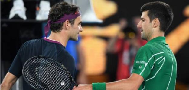 Federer y Djokovic tras las semifinales del Open de Australia. Fuente: Getty