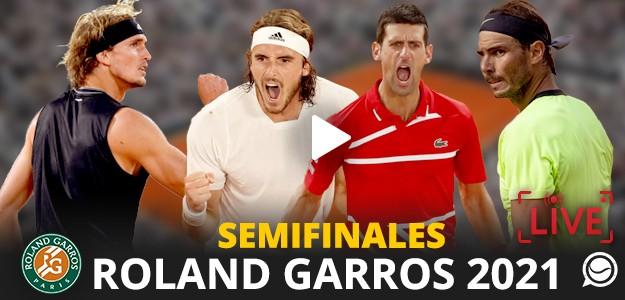 Sigue con nosotros EN DIRECTO las semifinales masculinas de Roland Garros 2021