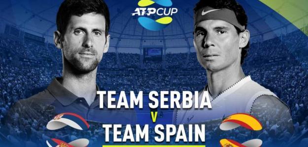 Nadal y Djokovic se medirán en la final de la ATP Cup. Fuente: ATP Cup