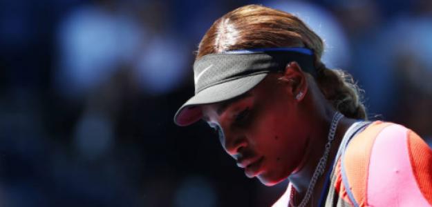Serena Williams en el partido de hoy. Fuente: Getty