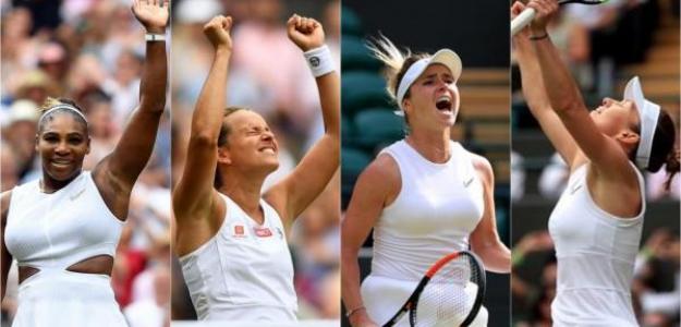 Serena-Strycova y Halep-Svitolina. Foto: 20m
