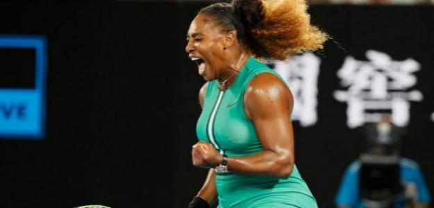Serena Williams en Open Australia 2019 contra Halep. Foto: zimbio