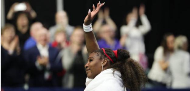 Serena Williams en la última eliminatoria de Copa Davis. Fuente: Getty