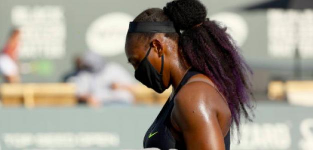Serena Williams con mascarilla. Fuente: Getty
