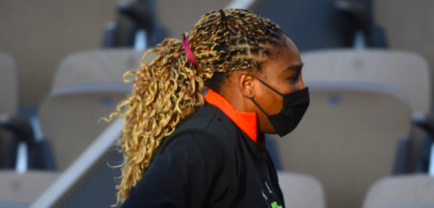 Serena Williams entrenando en París. Fuente: Getty