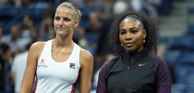 Serena Williams y Karolina Pliskova. Foto: US Open
