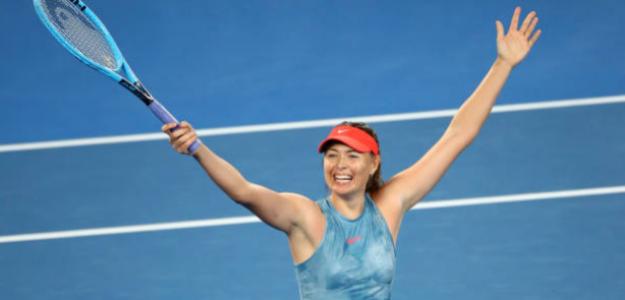 Maria Sharapova celebra su victoria. Foto: Getty