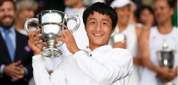 Shintaro Mochizuki en Wimbledon 2019. Foto: gettyimages