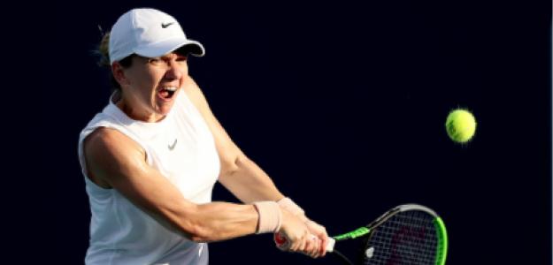 Simona Halep, molestias en hombro en Miami Open 2021. Foto: gettyimages