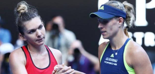 Simona Halep y Angelique Kerber, mejor partido del 2018. Foto: zimbio