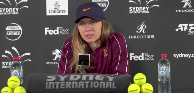 Simona Halep durante su rueda de prensa en Sydney. Foto: WTA