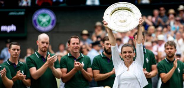 Simona Halep habla como ganadora de Wimbledon 2019. Foto: gettyimages