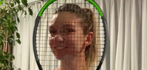 Simona Halep tras la raqueta. Fuente: Behind the racquet