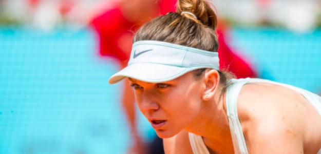 Simona Halep en el Mutua Madrid Open. Fuente: Getty