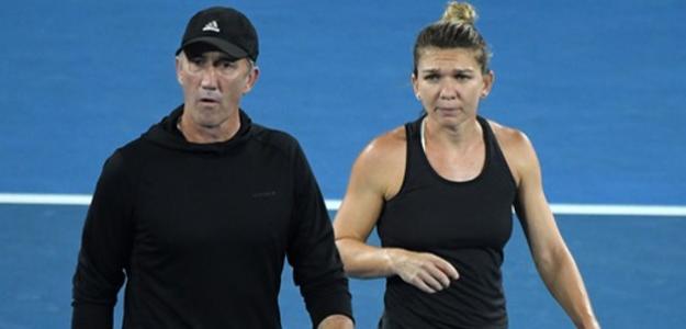 Darren Cahill y Simona Halep. Foto: Getty