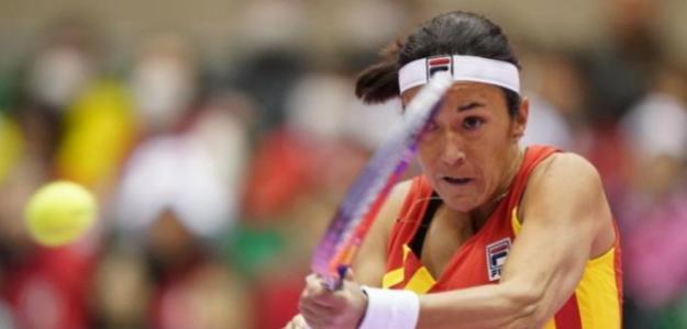Silvia Soler no pudo anotarse el tercer punto de la serie. Fuente FedCup