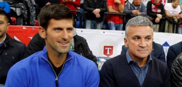 Novak Djokovic y Srdjan Djokovic.