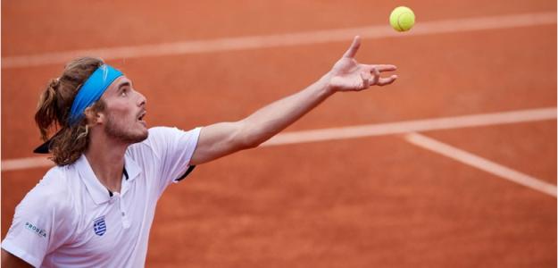Stefanos Tsitsipas en Copa Davis 2019. Foto: gettyimages