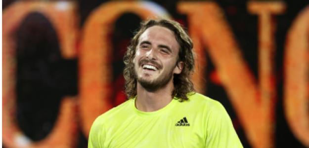 Stefanos Tsitsipas, alegría tras ganar a Rafael Nadal. Foto: gettyimages