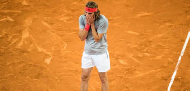 Stefanos Tsitsipas tras ganar a Nadal. Foto: Getty